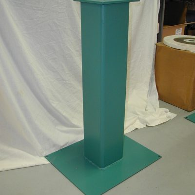 BII fabricated steel floor stand