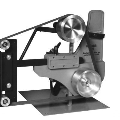 BIII Platen Tip includes adjustable platen and 2-inch OD idler wheels standard. Optional work rest is available.