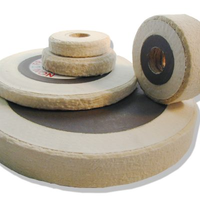 "Non fray cloth contact wheels from 4"" to 18"" OD and 1/2"" to 6"" wide. #70 or #90 density in stock."